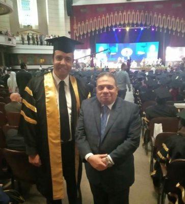 حصول مدير مكتب رئيس شركة مصر للبترول علي درجة الماجستير