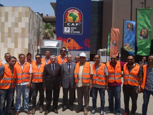 وزير الكهرباء يتفقد الان ستاد القاهرة الدولي للاطمئنان على تأمين التغذية الكهربائية قبل انطلاق امم افريقيا غداً