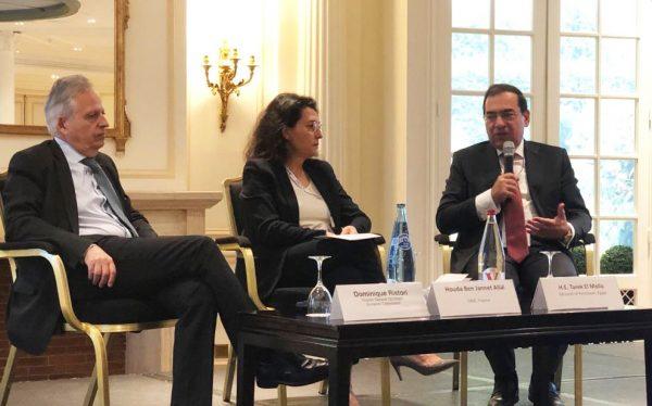 وزير البترول يستعرض في باريس الجهود المصرية في دعم التعاون الاقليمى لاستغلال موارد الغاز بمنطقة شرق المتوسط