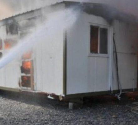 حريق محدود بسبب ماس كهربى بكرافانات الاعاشة بحقول زيتكو  ولا اصابات او  خسائر مادية