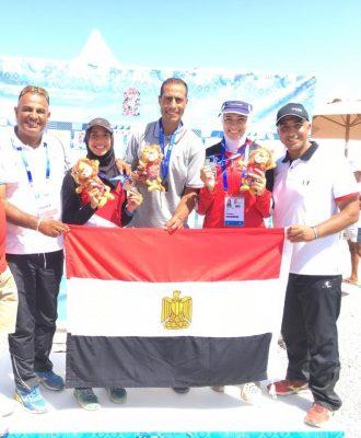 دارين حجازي تتوج بفضية التجديف في دورة الألعاب الإفريقية