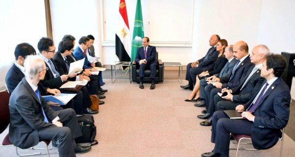 الرئيس السيسى يلتقى وزير الاقتصاد اليابانى ويستعرض الفرص الاستثمارية بمصر