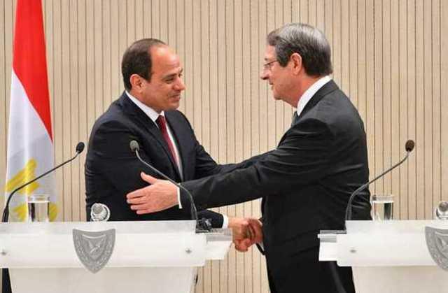 الرئيس القبرصى : نهدف الي مزيد من التعاون مع مصر فى مجال استكشاف الغاز الطبيعى