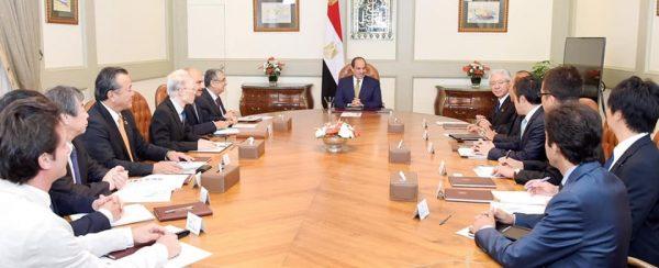 السيسى لرئيس «تويوتا»: مصر مؤهلة لتصبح محورًا للصناعات اليابانية