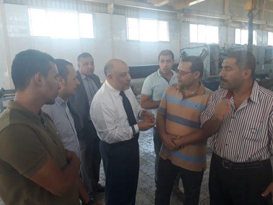 وفدم من مهندسي هيئة قناة السويس في زيارة لمصنع الرواد HDPE ويثني علي منتجات الشركة