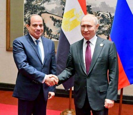 الرئيس السيسى يدعو بوتين لزيارة مصر ووضع حجر أساس محطة الضبعة