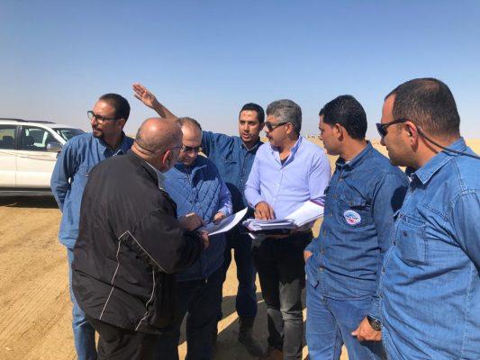 رئيس شركة بترو امير في زيارة الي حقل شرق غزلات لمتابعة الانتاج وشحن الزيت