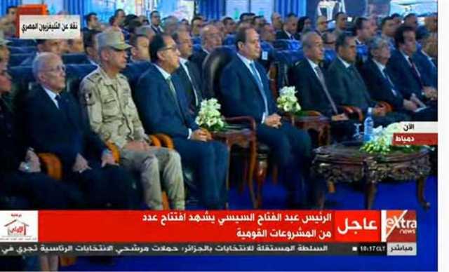 الرئيس السيسي يفتتح محطتي كهرباء مدينة الأثاث وغرب دمياط عبر الفيديو كونفرانس