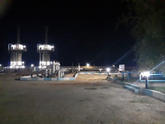 اطلاق التيار الكهربائي داخل محطة تدفيع المنتجات البترولية الوسطي بالكيلو 56 بطريق السويس