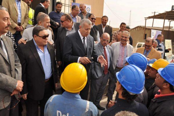 عبد المطلب وقيادات السهام البترولية يتفقدون موقع الصيانة الجديد ببهتيم للتأكيد على أهمية منظومة السلامة المهنية