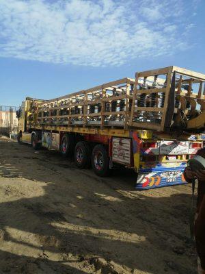 بالصور .. وصول مهمات الـ 66 kv الى موقع محطة محولات كفر الشيخ