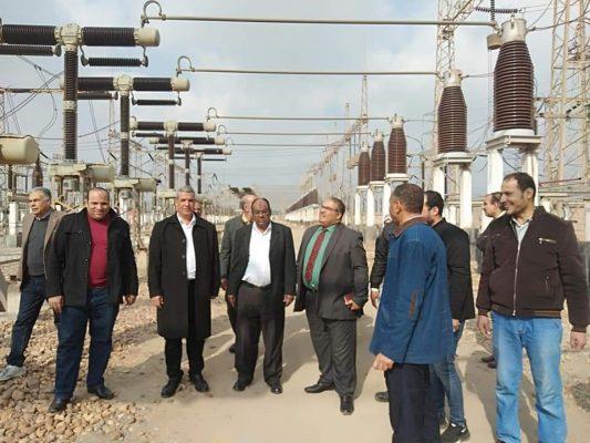 بالصور .. رئيس قطاع الجودة بالشركة المصرية لنقل الكهرباء في زيارة الي محطة القاهرة 500KV