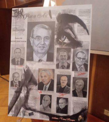 بالصور .. فنانو شمال القاهرة يرسمون لوحة تشكيلية لقيادات وزارة الكهرباء ..