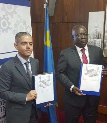 خاص بالصور  من الكونغو .. حسن علام توقع اليوم اتفاقتين لانشاء محطة شمسية وميناء باقليم كاساي