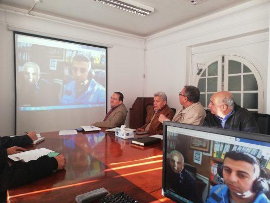 المهندس احمد الشريف يطلق أنظمة الربط والإتصال بالحمرا أويل عبر الفيديو كونفرانس