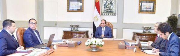 الرئيس السيسى يستعرض مع مدبولى وشاكر تطورات مشروع الضبعة النووى وتغذية العاصمة الادارية