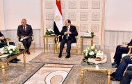 الرئيس السيسي يلتقي رئيس شركة بريتيش بتروليوم BP في حضور الملا