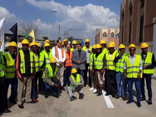 زيارة اعضاء برنامج «تشغيل وصيانة محطات الديزل» من المهندسين الافارقة لمحطة الشباب التابعة لـ شرق الدلتا لانتاج الكهرباء