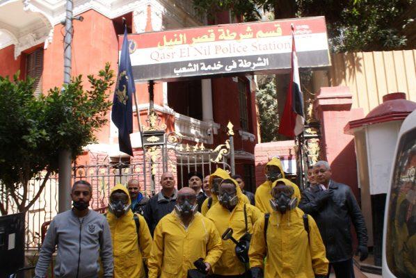 التعاون للبترول تقوم بواجبها الوطنى فى تعقيم قسم شرطة قصر النيل بالكامل ضد فيروس كورونا