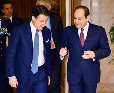 السيسي يعزي رئيس وزراء إيطاليا في ضحايا كورونا .. ويؤكد تضامن مصر مع بلاده