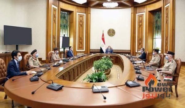 الرئيس  السيسي يطلع على خطط تأمين العمق الغربي لمصر امتداداً للحدود الدولية