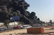 حريق خط أنابيب لنقل المواد البترولية بالكيلو 21 بمدينة العاشر