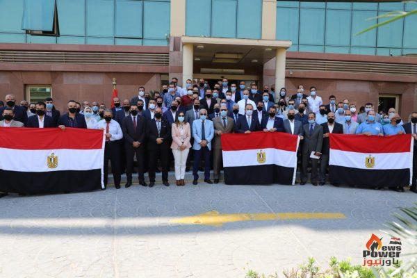 صان مصر تشارك بمسيرة حاشدة فى إنتخابات مجلس الشيوخ بكافة مواقعها