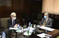 شاكر يستقبل السفير الياباني لبحث التعاون المشترك في قطاع الكهرباء والطاقة