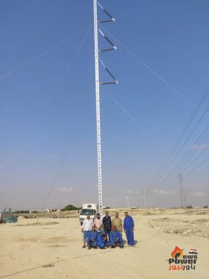 إنشاء اول برج طوارئ بالجهود الذاتية لقطاع خطوط القناة لتأمين تغذية مدينة السويس