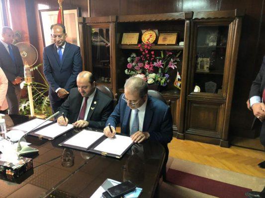 دسوقي يوقع بروتوكول تعاون مع المركز الرئيسى لتدريب القادة بدولة الإمارات