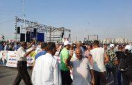 الدكتور عادل نظمى رئيس النقابة العامة للمرافق يقود حشدا لدعم الرئيس السيسي