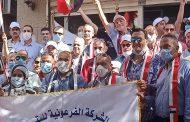 الفرعونية للبترول تنظم مسيرة حاشدة للمشاركة في احتفالات اكتوبر بقيادة محمد سمير