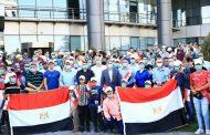 بتروجت تشارك بمسيرة ضخمة لمشاركة المصريين في احتفالات اكتوبر بقيادة لطفي