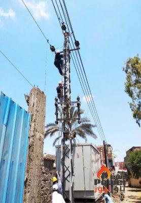 2 مليون جنيه لتطوير قرية اولاد صبور ضمن مبادرة حياة كريمة فى نطاق عمل شركة شمال الدلتا لتوزيع الكهرباء