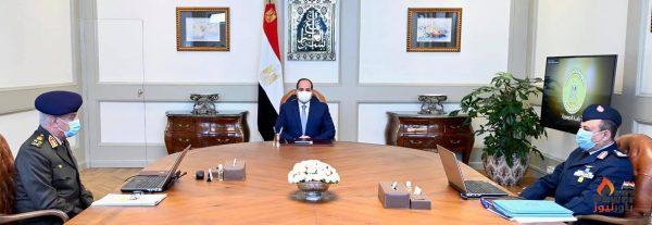 الرئيس السيسى يطلع علي أنشطة وجاهزية الأفرع الرئيسية للقوات المسلحة خاصة القوات الجوية
