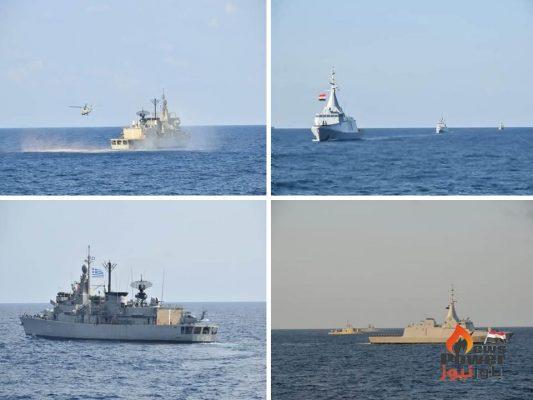 القوات البحرية المصرية واليونانية تنفذان تدريباً بحرياً عابراً ببحر إيجه ...