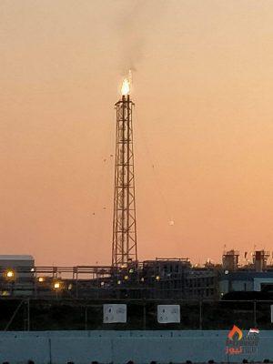 تاكيدا لانفراد باور نيوز ..اضاءة شعلة محطة معالجة الغازات بحقل ريفين تمهيدا لبدء التشغيل التجريبي خلال أيام