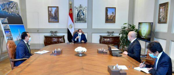 الرئيس السيسي يتابع الموقف التنفيذي وسير العمل بمجموعة المدن الجديدة علي مستوي الجمهورية