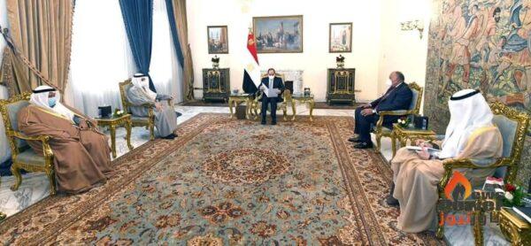وزير خارجية الكويت ينقل رسالة خطية إلى السيد الرئيس من أمير دولة الكويت