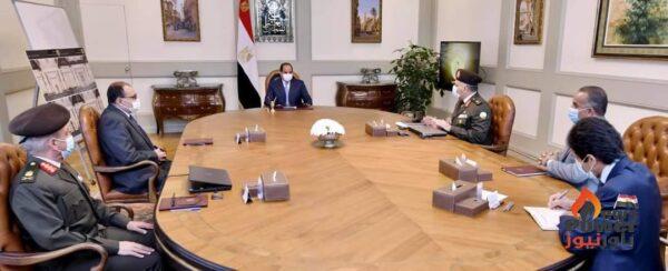 الرئيس السيسى يوجه بتطوير وتوسعة محور كوبري ٦ أكتوبر والطرق السطحية أسفله