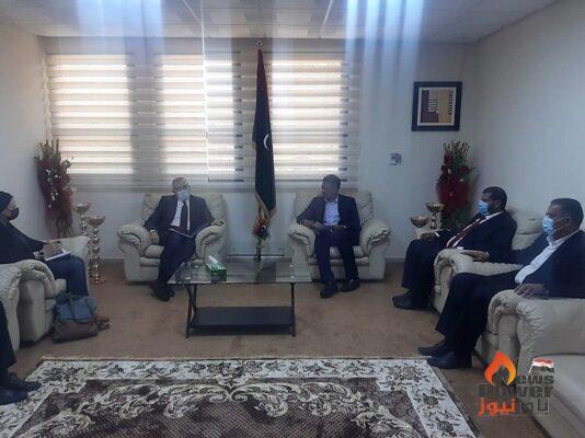 بالصور ..السفير الايطالى بليبيا يبحث مع الشركة العامة للكهرباء فتح آفاق تعاون بين البلدين