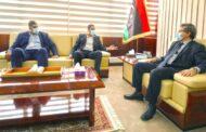 بالصورة ..أعضاء المجلس الأعلى للدولة الليبى يبحثون مع وزير النفط إنشاء مصفاة لتكرير النفط في الجنوب