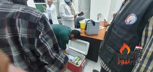 تطعيم موظفي محطة كهرباء شمال بنغازي للدورة المزدوجة ضد فيروس كورونا .