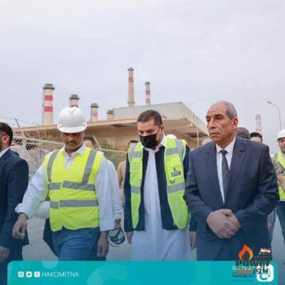 رئيس حكومة الوحدة الوطنية الليبية يزور مشروع محطة كهرباء غرب طرابلس بقدرة ٦٧٠ ميجا وات