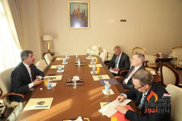 وزير النفط العراقى يبحث مع السفير الامريكى ببغداد تعزيز التعاون الثنائي في تطوير قطاع النفط والطاقة