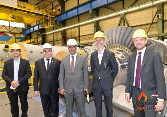 مسئولون من شركة كهرباء ليبيا يتفقدون مصانع siemens لشحن وحدات مشروعى غرب طرابلس ومصراتة قدرة 1300 ميجا وات