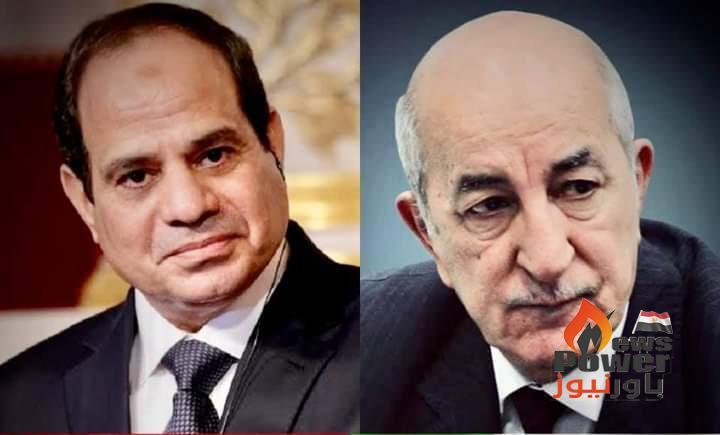 الرئيس السيسي يتبادل التهنئة مع الرئيس الجزائرى عبد المجيد تبون للتهنئة بحلول عيد الاضحي المبارك