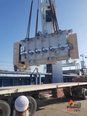 ليبيا : وصول محولات ومعدات مشروع محطة توليد غرب طرابلس الإسعافى